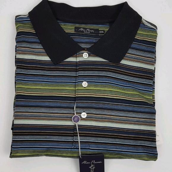 Alan Flusser Other - Alan Flusser Golf Shirt Short Sleeve Size 2XL